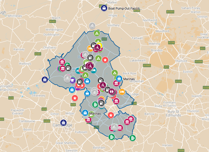 explore east cambs interactive map